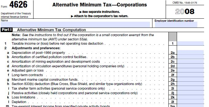 Form 4626 Amt How To Fill Out Alternative Minimum Tax Form