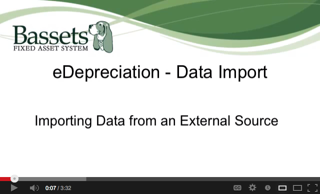 Basset eDepreciation - Data Import