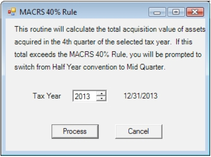Violation of the MACRS rule
