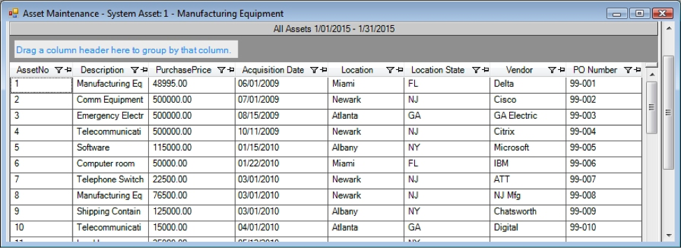 Inventory archives depreciation guru for Asset schedule template