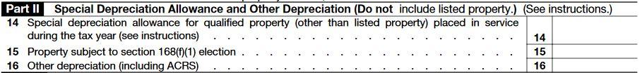 IRS Form 4562 Depreciation – Part 2