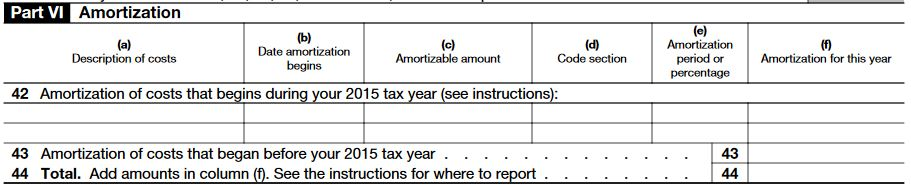 IRS Form 4562 Depreciation – Part 6