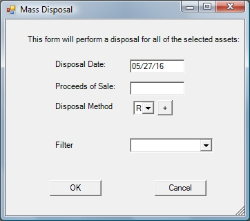 Mass Disposal or Retirement of Fixed Assets