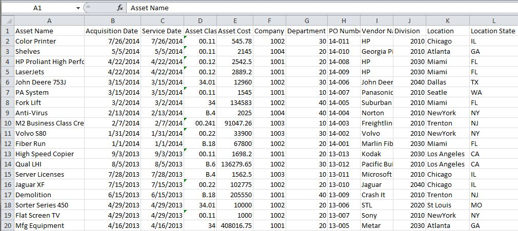 Import Spreadsheet Data to Start 3